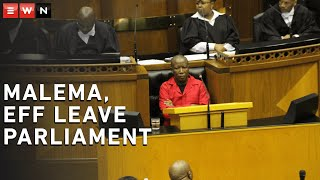 Malema leaves Parliament after heated debate