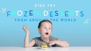 Kids Try Frozen Desserts From Around the World | Kids Try | HiHo Kids