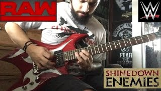 "WWE RAW ""Enemies"" 2016 theme guitar cover"