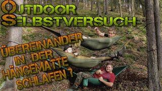 Hängematten übereinander aufbauen? Outdoor - Selbstversuch! Bushcraft Survival Petersilienhexe