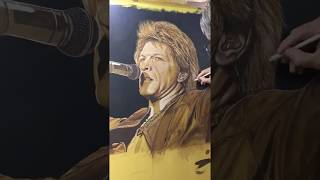 Painting Jon Bon Jovi by Marc Potocsky