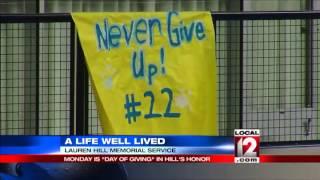 Public memorial for Lauren Hill on Monday