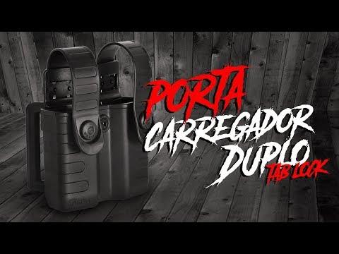 PORTA CARREGADOR DUPLO TAB LOCK VERDE - BÉLICA MILITAR