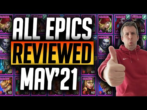 DON'T LEVEL TRASH! ALL EPICS REVIEWED IN UNDER 30 SECONDS! MAY'21 | Raid: Shadow Legends