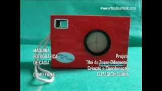 Máquinas Fotográficas de Caixas #02 Como fazer câmera de papelão reciclada