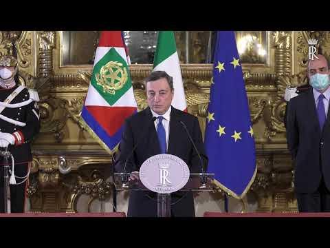 """(VIDEO) Mario Draghi ha accettato l'incarico di premier per """"vincere la pandemia e rilanciare il Paese"""". Giovedì le consultazioni"""