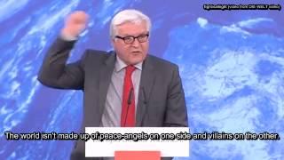 [Eng Sub] Steinmeier yells at protesters (Steinmeier schreit Gegner nieder)