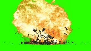 explosion with debris - green screen effects