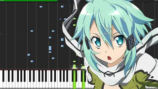 Courage - Sword Art Online II (Opening 2) [Piano Tutorial] (Synthesia) // AniPiano