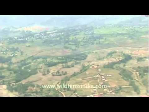 Aerial view through the plane – Delhi to Kathmandu