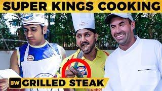 FULL VIDEO: Mouth-watering BBQ Steak by CSK Team! | Dhoni, Harbhajan, Raina | RN