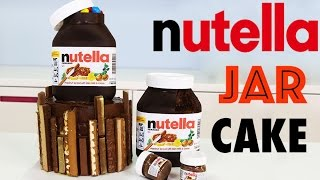 Chocolate NUTELLA Cake | How to Make an INSANE Chocolate Nutella Jar Cake