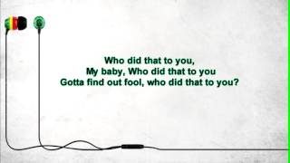 John Legend - who did that to you OFFICIAL LYRICS VIDEO