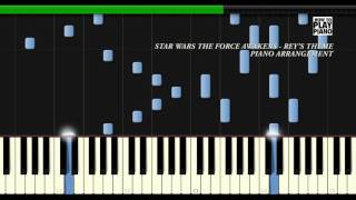 STAR WARS THE FORCE AWAKENS - REY'S THEME - SYNTHESIA  (PIANO COVER)