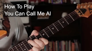 'You Can Call Me Al' Paul Simon Guitar Lesson