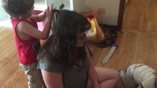 Cutting Mummy's Hair