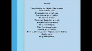 Poésie -  POISSON de Paul Eluard