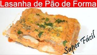 LASANHA de PÃO de FORMA  SUPER FACIL E BARATA