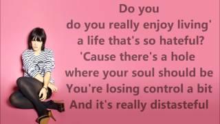 Fuck you - Lily Allen. Lyrics HD