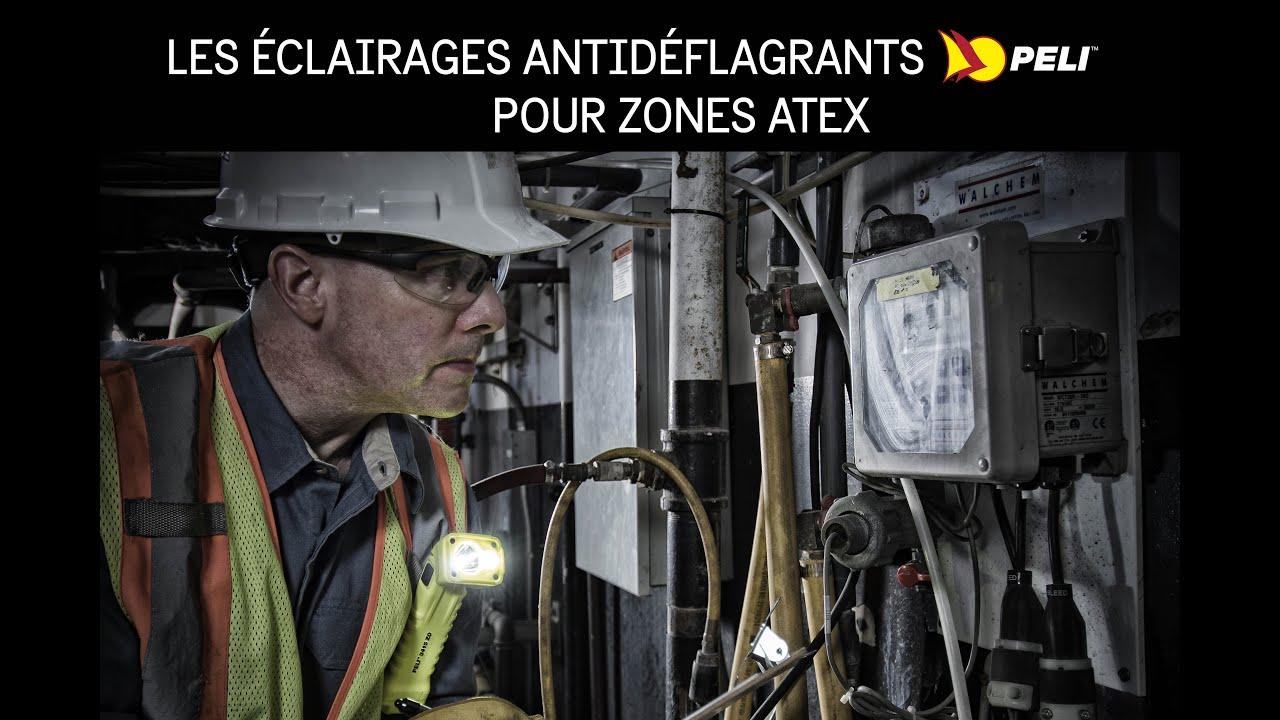 Lampe torche coudée Peli™ 3660Z1 Atex Zone 1 rechargeable