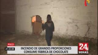 Pisco: incendio en fábrica de chocolates aún no es controlado en su totalidad