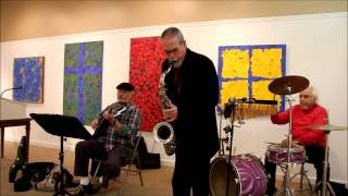 "Drum Sax Axe: ""Europa"" (Carlos Santana cover) at the Hutchinson Art Association"