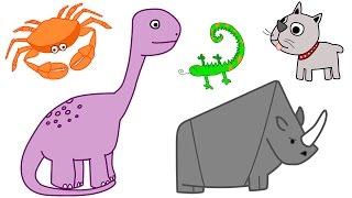 Learn Animals Names for Kids #2 - Aprenda os nomes dos animais em Inglês