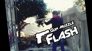 After Effect Gun Muzzle Flash - Smoke - Bullet Casing Test