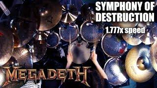"Megadeth - ""Symphony of Destruction"" 1.777x speed drum cover"