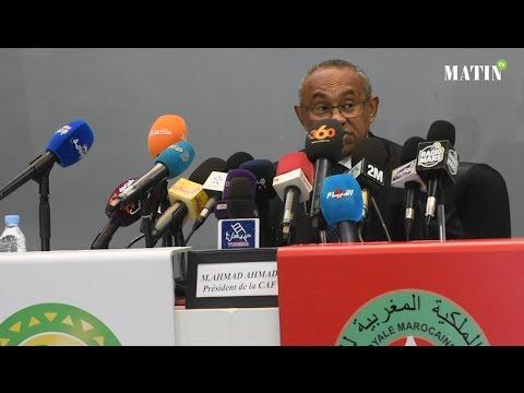 Le président de la CAF affiche son soutien à la candidature du Maroc pour l'organisation du Mondial 2026