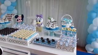 Decoração de 1 ano Mickey Baby - Arena Festas