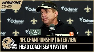 Coach Sean Payton Previews NFC Championship Game vs Rams - Wednesday Interview   New Orleans Saints