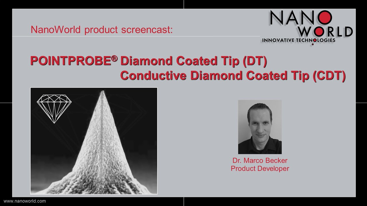 NanoWorld Pointprobe® Diamond Coated Tip (DT), Conductive Diamond Coated Tip (CDT)