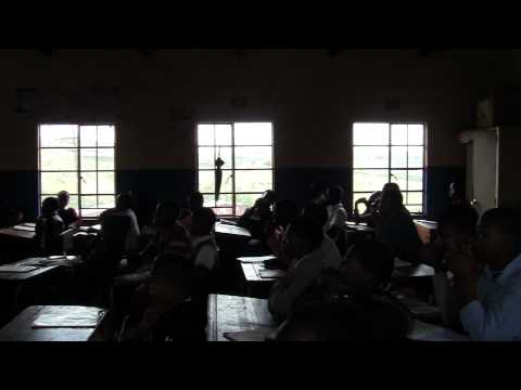 Albizia Camp UK students share songs with a local South African school