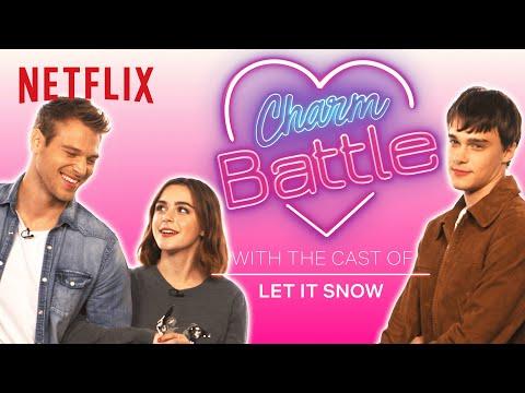 Let It Snow Cast Tries Holiday Pick Up Lines   Charm Battle   Netflix