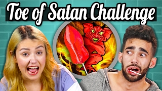 WORLD'S HOTTEST LOLLIPOP CHALLENGE! (TOE OF SATAN)   People Vs. Food