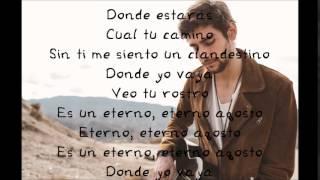 Alvaro Soler - Agosto - Lyrics ( Letra )