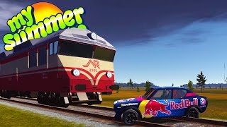 THE TRAIN UPDATE! Car vs Train Crashes and Deaths - My Summer Car Gameplay Highlights Ep 50