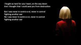 Sia - Fist Fighting A Sandstorm Lyrics