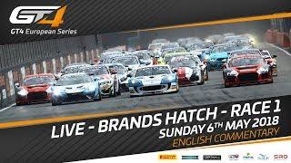 GT4 European Series - Brands Hatch 2018 - Race 1 - LIVE - ENGLISH
