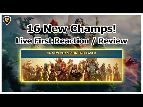 RAID Shadow Legends | 16 New Champions | Live First Reaction / Review
