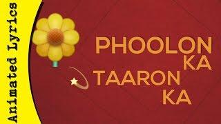 Phoolon Ka Taaron Ka Sabka Kehna Hai (Whatsapp status)🔵 ¦ Animated Lyrics