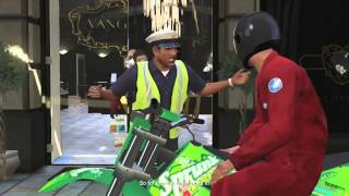 GTA 5 - Bank Heist & Cop Chase Gameplay! (Grand Theft Auto 5 Gameplay)