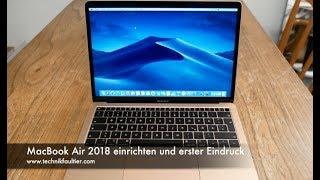 MacBook Air 2018 einrichten und erster Eindruck