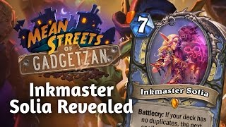 (Hearthstone) Legendary Card Reveal: Inkmaster Solia!