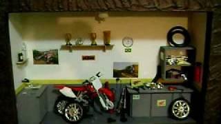 Miniatura de oficina de moto