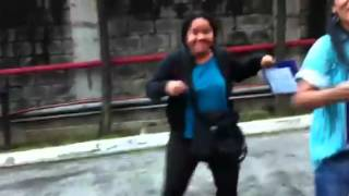 Chiqui dance behind the scene