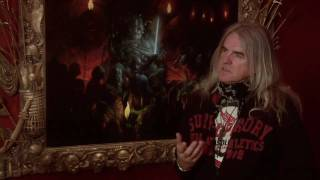 Biff Byford talks about the Crusader Album Cover by Paul Raymond Gregory