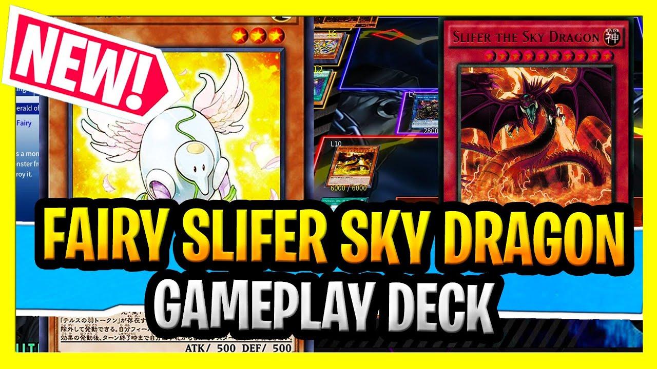 SLAYDRA - New Fairy Angel Slifer Deck In Action Gameplay + Angel Slifer The Sky Dragon Deck Profile