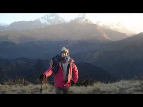 Poon Hill Nepal 2012, Beautiful Sunrise, Mountains and People